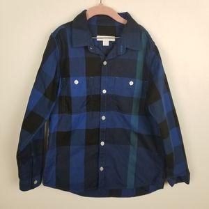Burberry plaid boys button down shirt